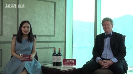 波尔多超二级庄碧尚男爵总经理做客红酒世界直播间